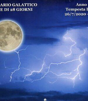 SINCRONARIO GALATTICO 2020 / 2021- 13 Lune di 28 Giorni. Anno della Tempesta Lunare Blu 26/7/2020 – 24/7/2021